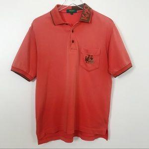 Kenzo Golf Orange Polo Shirt Sz 3